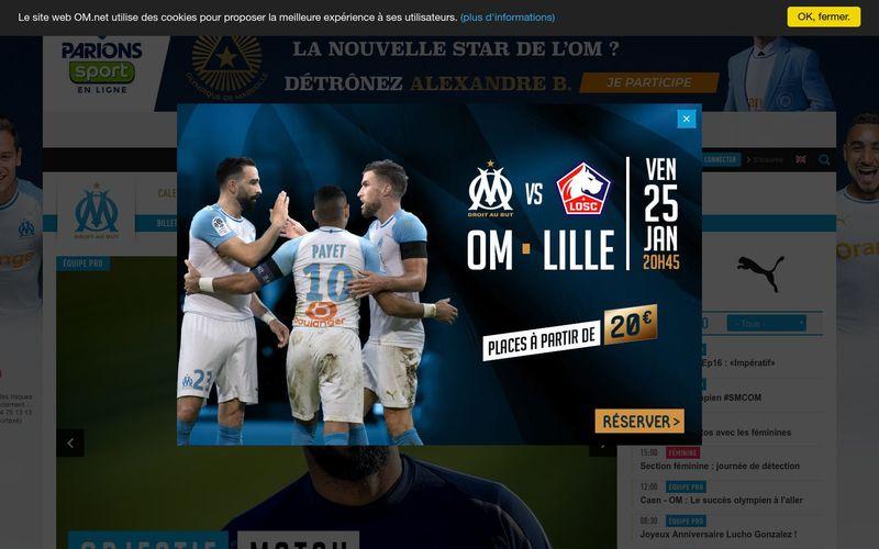 Retrouvez toute l'actualité de l'Olympique de Marseille