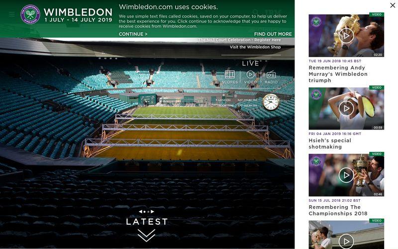 Le site officiel du tournoi de Wimbledon